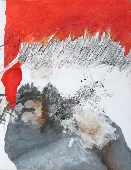 Red Space / Espace Rouge by Cara Déry, Mixed on Paper