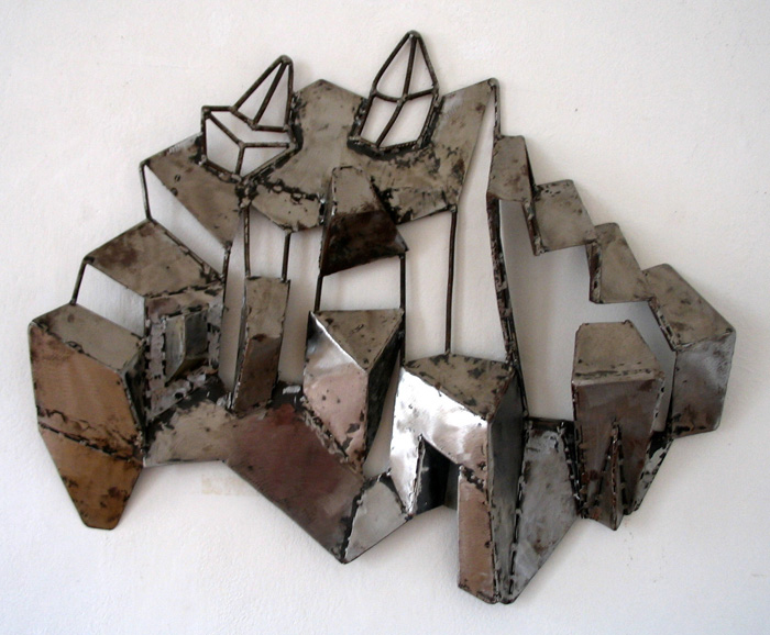 Town on Hill by Vera Stanarcevic, steel on